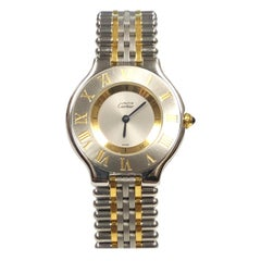 Cartier Must De Cartier 21 Steel and Gold Mid Size Quartz Wristwatch