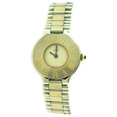 Cartier Must de Cartier 21 Two-Tone 18 Karat Gold/Steel Watch