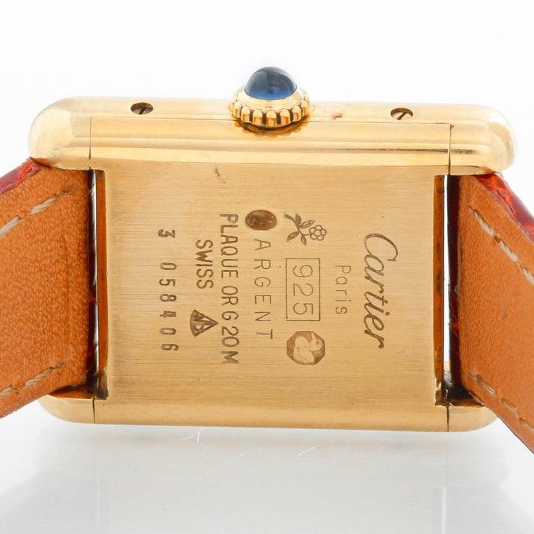 Women's Cartier Must de Cartier Gold Plaque Ladies Quartz Watch 590004