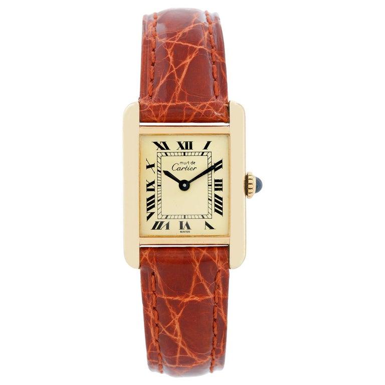 Cartier Must de Cartier Gold Plaque Ladies Quartz Watch 590004