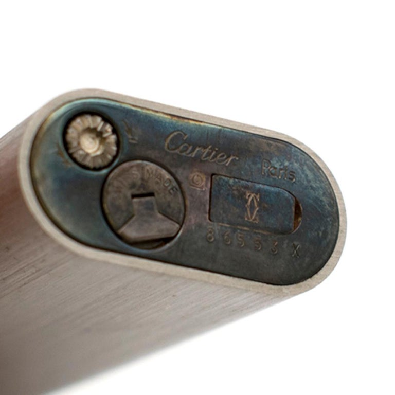 Cartier Must De Cartier Silver Plated Briquet Lighter For Sale 2