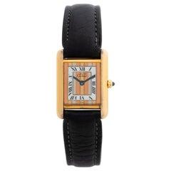 Cartier Must De Cartier Tank Ladies Watch, Ref 3660, With Box