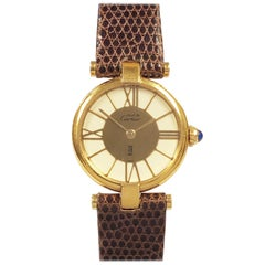 Cartier Must De Cartier Vendome Ladies Vermeil Quartz Wristwatch