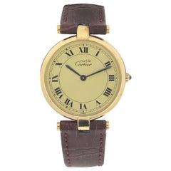 Cartier Must de Cartier Vendome Large Vermeil Quartz Wristwatch