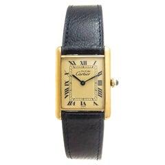 Cartier Vermeil Must de Cartier Tank Quartz Wristwatch