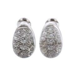 Cartier Myst De Cartier 18 Karat White Gold Rock Crystal Diamond Earrings