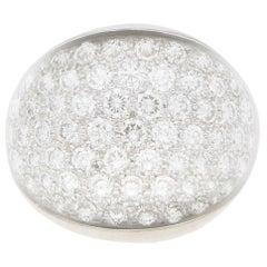 Cartier Myst De Cartier Diamond and Rock Crystal Dress Ring in 18 Karat Gold