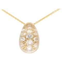Cartier Myst De Cartier Diamond and Rock Crystal Pendant Set in 18 Karat Gold