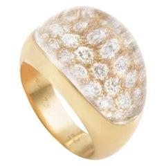 Cartier Myst de Cartier Rock Crystal Diamond Yellow Gold Ring