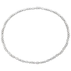 "Cartier Necklace ""Dentelle"" Collection, Set with Diamonds"