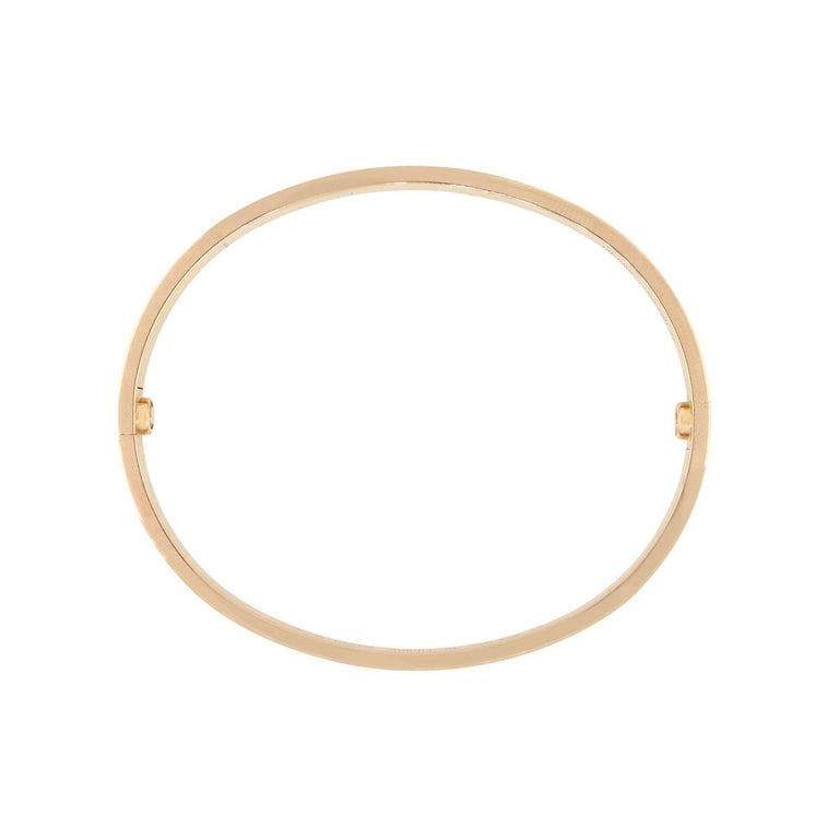 Cartier New Style Love Bangle Bracelet In Excellent Condition For Sale In Boca Raton, FL