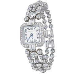 Cartier New York, Charlton & Co. Art Deco Diamond Wristwatch