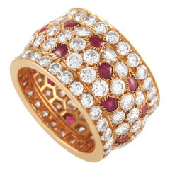 Cartier Nigeria 18k Yellow Gold Diamond and Ruby Ring
