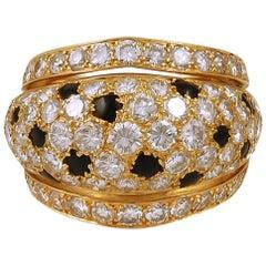 Cartier Nigeria Diamond Onyx Dome Ring