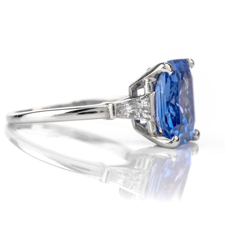 Cartier No Heat Ceylon Natural Sapphire Diamond Engagement Ring, AGL Certified 1