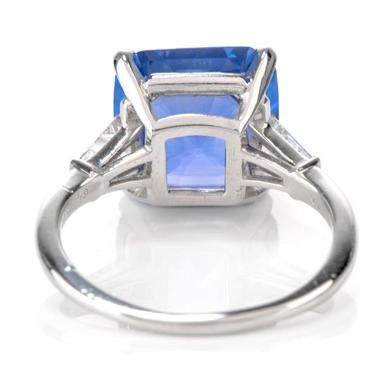 Cartier No Heat Ceylon Natural Sapphire Diamond Engagement Ring, AGL Certified 2