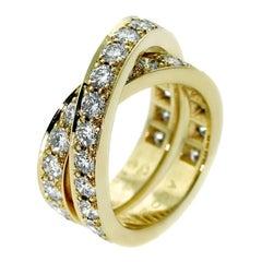 Cartier Nouvelle Vague Diamond Bypass Gold Ring