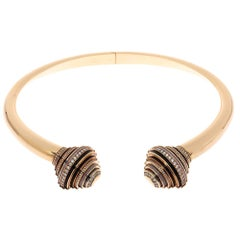 Cartier Nouvelle Vague Emancipated Multi Gemstone 18K Rose Gold Choker Necklace