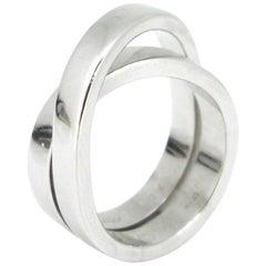 Cartier Nouvelle Vague Paris White Gold Band Ring