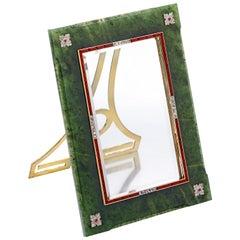 Cartier NY Art Deco circa 1927 Siberian Nephrite Jade Picture Frame