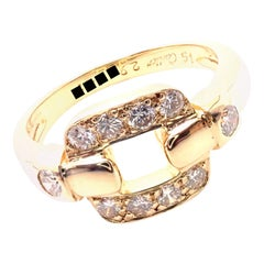 Cartier Nymphea Diamond Yellow Gold Band Ring