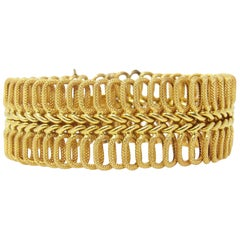 Cartier of Italy 18k Yellow Gold Bracelet Circa 1970
