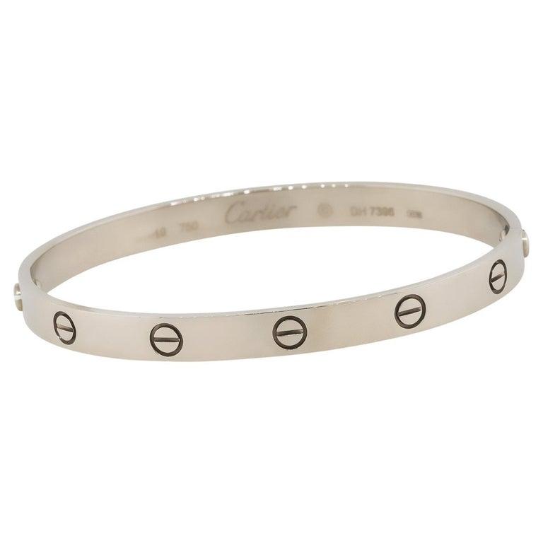 "Cartier ""Old Style"" Love Bangle Bracelet 18 Karat in Stock For Sale"