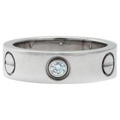 Cartier One Diamond Love Ring Platinum US