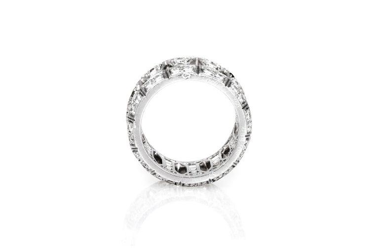 Cartier ring, finely crafted in 18K white gold with brilliant cut diamonds.
