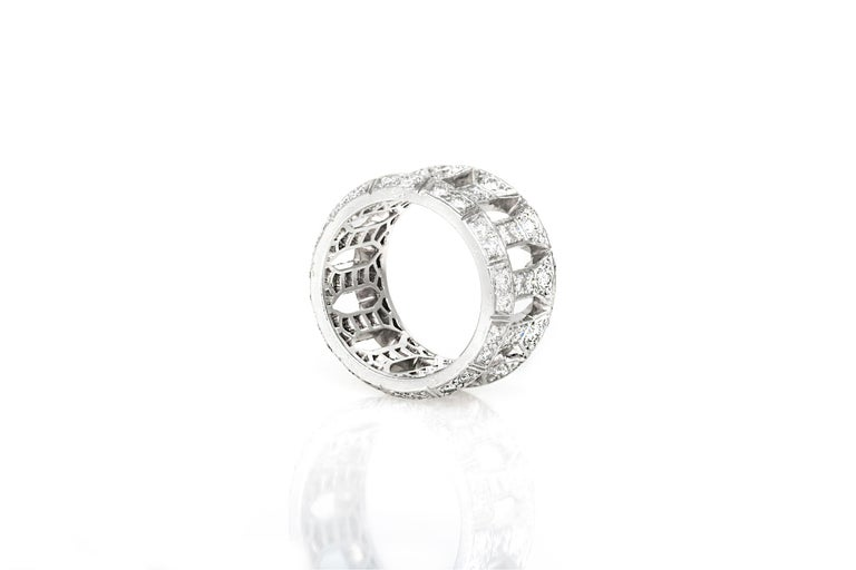Cartier Openwork Ring In Good Condition For Sale In New York, NY