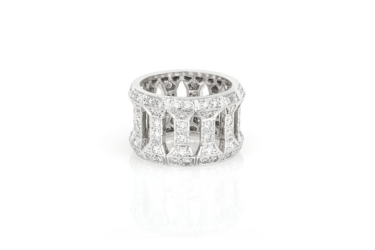 Women's Cartier Openwork Ring For Sale