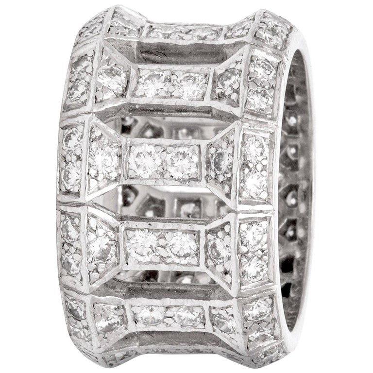 Cartier Openwork Ring For Sale