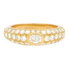 Cartier Oval Diamond Mimi Bombé Ring Set in 18 Karat Yellow Gold