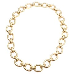 Cartier Oval Yellow Gold Link Necklace