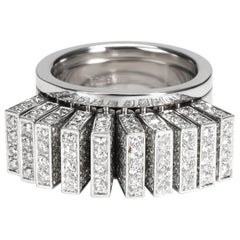 Cartier Paillettes Diamond Ring in 18 Karat White Gold 3.40 Carat