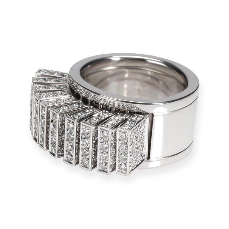Cartier Paillettes Diamond Ring in 18K White Gold 3.40 CTW  PRIMARY DETAILS SKU: 106810  Cartier Paillettes Diamond Ring in 18K White Gold 3.40 CTW Condition Description: Retails for 27,000 USD. In excellent condition and recently polished. Ring