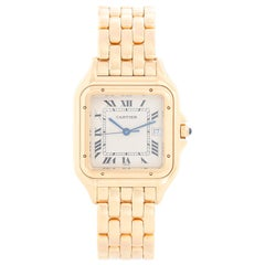 Cartier Panther 18 Karat Yellow Gold Men's Quartz Watch with Date