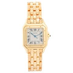 Cartier Panther 18 Karat Yellow Gold Men's Quartz Watch with Date