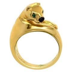 Cartier Panther 18 Karat Yellow Gold Ring