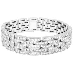 Cartier Panther Bracelet, White Gold and Diamonds