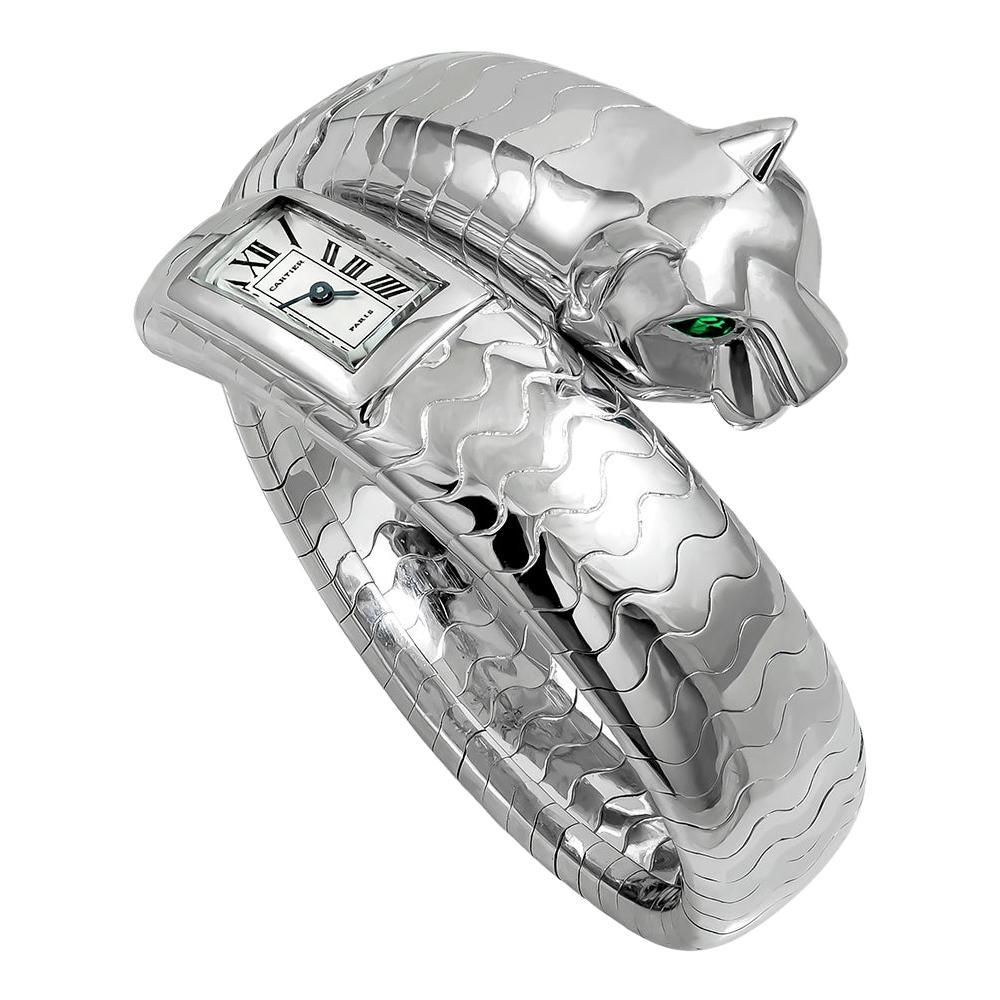 Cartier Panther Head Gold Watch