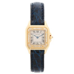 Cartier Panther Ladies 18 Karat Yellow Gold Diamond on Strap