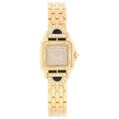 Cartier Panther Ladies 18 Karat Yellow Gold Diamond Watch
