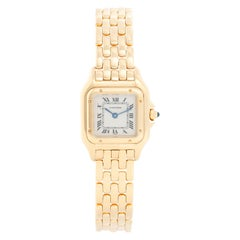 Cartier Panther Ladies 18 Karat Yellow Gold Panthere Watch W25022B9