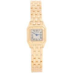 Cartier Panther Ladies 18 Karat Yellow Gold Panthere Watch W25034B9 1130 Mini