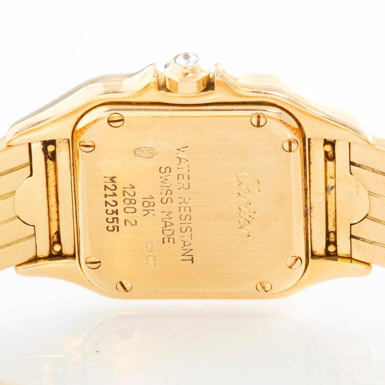 Women's Cartier Panther Ladies 18 Karat Yellow Gold Diamond Watch