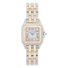 Cartier Panther Ladies 2-Tone 2-Row Steel & Gold Watch W25029B6