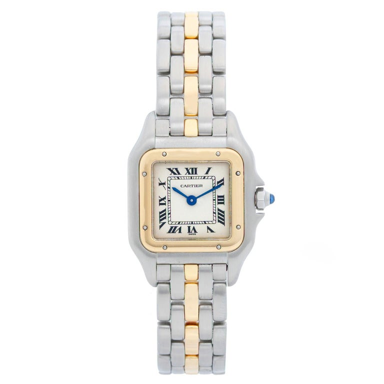 85b8be7a5b1 Cartier Panther Ladies 2-Tone Steel and Gold Panthere Watch For Sale ...