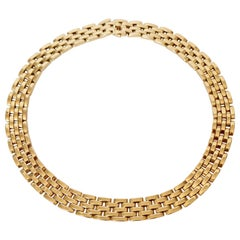 Cartier Panther Necklace in 18 Carat Yellow Gold Five Rows