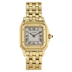 Cartier Panther Panthere Bracelet Watch 18 Carat Yellow Gold Case
